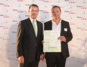 Umweltminister Niki Berlakovic und aktivklimahaus-CEO Martin Partoll